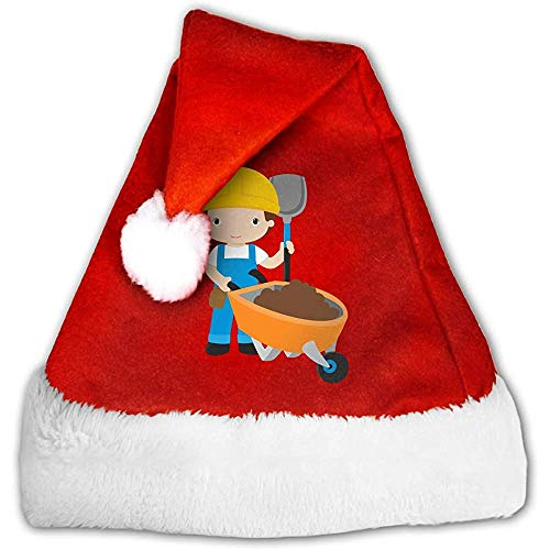 Kenice Rot Weihnachten Hüte,Weihnachtsmann Hut,Weihnachtsmützen,Santa Claus Mütze,Karikatur-Arbeiter Santa Claus Cap,Party-Dekoration,Weihnachtsfeiertags-Hut S