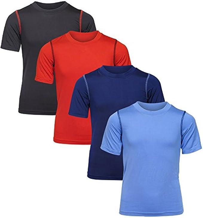 Black Bear Boy's Performance Dry-Fit T-Shirts (4 Pack)