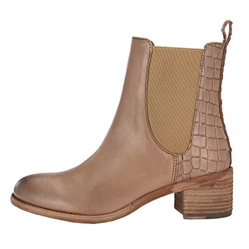 Botas Chelsea para mujer con montura de cocodrilo, sin características, color Gris, talla 42 EU