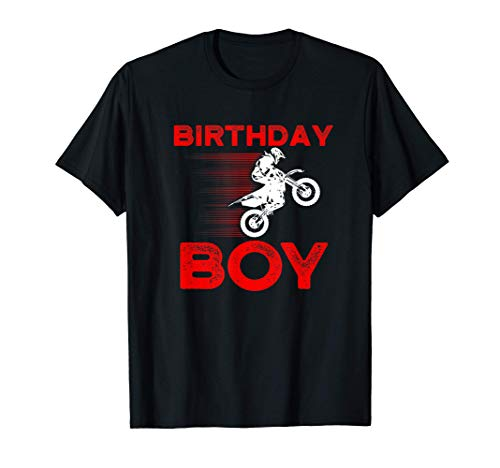 Cumpleaños Niño I MX I Motocicleta I Motocross Camiseta