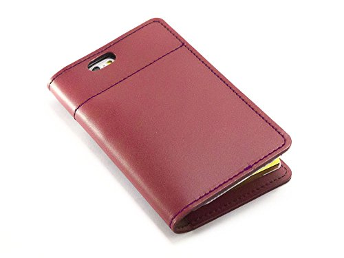 1冊の「ふせんノート」で人生は、はかどる坂下仁特製ふせん台紙付き本革レザーiPhone 8カバー・本革レッド