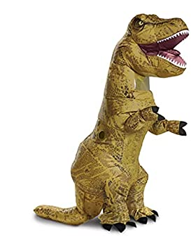 Jurassic World T-Rex Costume Inflatable Dinosaur Costume for Kids Children s Size Fan Operated Expandable Blow Up Jumpsuit