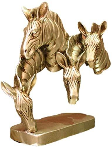 Escultura,Estatuilla De Arte Escultura Adorno Estatuas Estatuillas Estatuas Y Esculturas Decoración De Cabeza De Caballo Gabinete De Vino Adornos De Artesanía De Resina