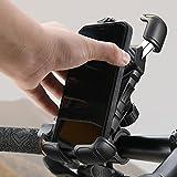 Handyhalterung Fahrrad Lenker, [Niemals abfallen] LISEN Handyhalter Motorrad - Universal 360 Drehung...