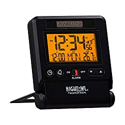 powerful Marathon Atomic Travel Alarm Clock with automatic backlight, calendar and temperature. Summary …