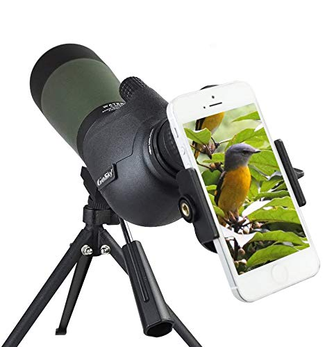 Gosky 20-60 X 80 Porro Prism Spotting Scope- Waterproof Scope for Bird Watching...