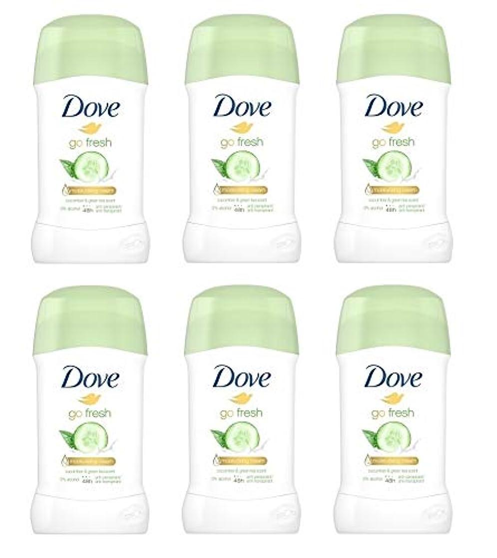 苛性確実数学者(6パック) ドーブ新鮮になきゅうりそして緑茶香り制汗剤デオドラントスティック女性の為に - (Pack of 6) Dove Go Fresh Cucumber & Green Tea Scent Anti-perspirant Deodorant Stick for Women 6x40ml