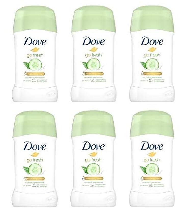 ポーター人質祈り(6パック) ドーブ新鮮になきゅうりそして緑茶香り制汗剤デオドラントスティック女性の為に - (Pack of 6) Dove Go Fresh Cucumber & Green Tea Scent Anti-perspirant Deodorant Stick for Women 6x40ml