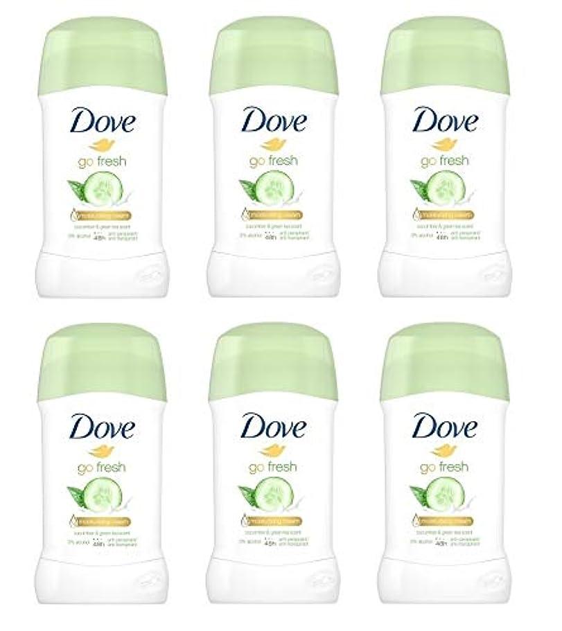 起きているピカリングジャム(6パック) ドーブ新鮮になきゅうりそして緑茶香り制汗剤デオドラントスティック女性の為に - (Pack of 6) Dove Go Fresh Cucumber & Green Tea Scent Anti-perspirant Deodorant Stick for Women 6x40ml