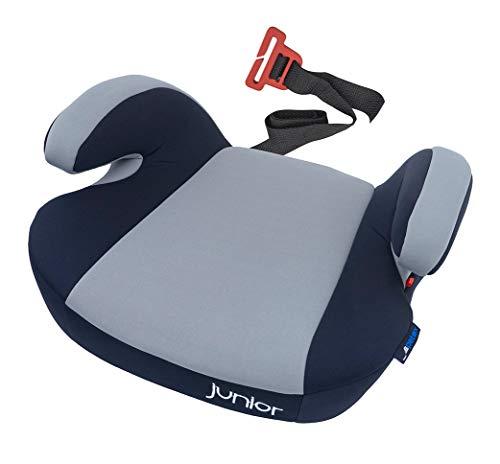 Petex - Rialzo per seggiolino auto Maja con sistema di fissaggio ISOFIX, gruppo 3, bambini di circa 7-12 anni, 22-36 kg, colore: Grigio