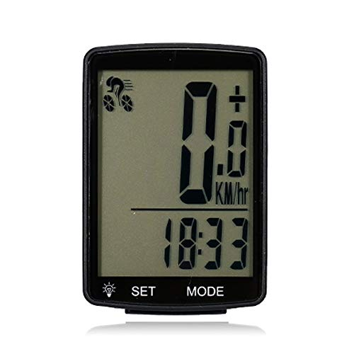 Ciclocomputador de cuentakilómetros inalámbrico para bicicleta, impermeable, con luz de fondo para...