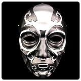 TINGSHOP Máscara De Halloween, Harry Potter Mortífago Máscara De La Muerte Hacker del Festival del Vintage Apoyos Decorativos Airsoft Paintball Cara Completa Cráneo Esqueleto Máscara De Navidad