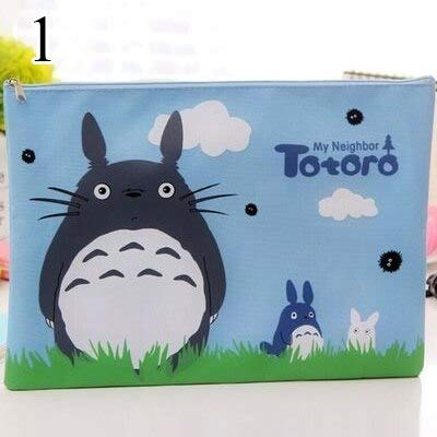 Kamisa Cute Totoro Pencil Case High Capacity Pen Case Kawaii Canvas Pencil Bag for Kids Gifts School Office Supplies Japan Stationery - (Color: 1) T43E196