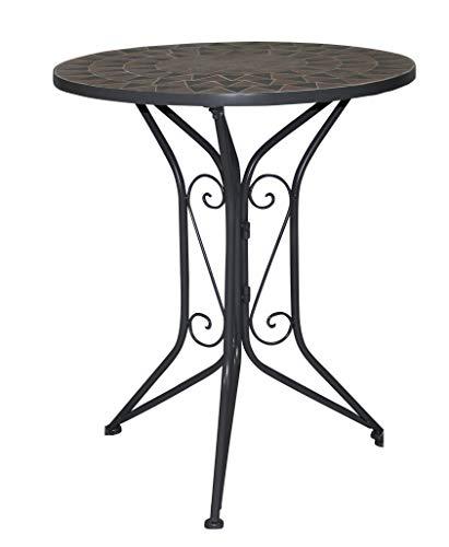 """Gardissimo Tisch Florenz 471737\"""", Ø60x71cm, Gestell: Stahl, pulverbeschichtet in schwarz matt, Fläche: Mosaik,Tischplatte: Keramik, Mehrfarbig"""