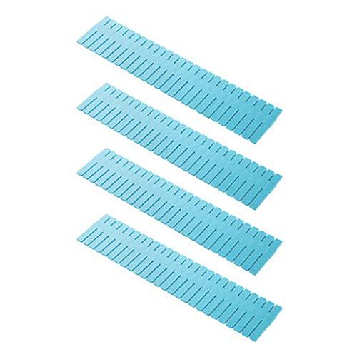 Haorw Divisor de cajón, Estilo de Valla Rectangular Divisor de cajón Organizadores de Placa Separadores Tablero Utensilio Azul