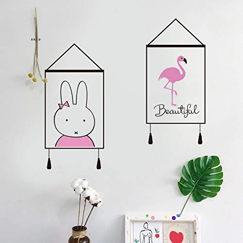 Olivialulu Nijntje Konijn Cartoon Muurstickers Droom Decoratieve Muurstickers Slaapkamer Woonkamer Eenvoudige Kunst Schilderij Stickers Kleurgrootte kan worden aangepast