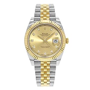 Fashion Shopping Rolex Datejust 41 Champagne Diamond Steel and 18K Yellow Gold