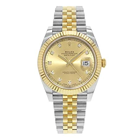 Fashion Shopping Rolex Datejust 41 Champagne Diamond Steel and 18K Yellow Gold Jubilee Men's Watch 126333CDJ