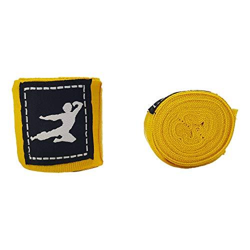 Tunturi Boxing Protection Muñequeras Boxeo Bruce Lee Amarillas, Un Par, Unisex Adulto, Yellow, 1