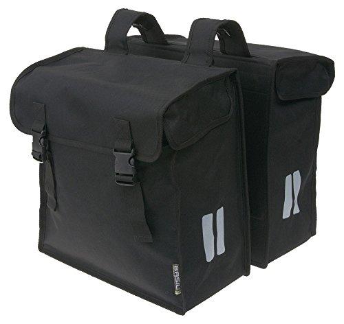 Basil Doppelpacktasche Mara XXL Fahrradtasche, Black, 36 cm x 16 cm x 45 cm