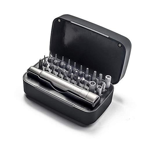 LZHui 31 en 1 juego de destornilladores de precisión, mini juego de destornilladores, kit de reparación de bricolaje para iPhone, PC y otros productos electrónicos, destornillador magnético