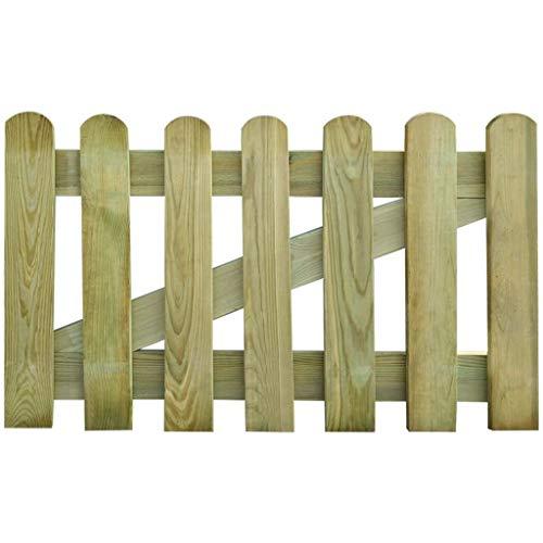Xingshuoonline Barrière de jardin en bois 100 x 60 cm avec barres verticales et entretoises horizontales solides pour renforcer le cadre