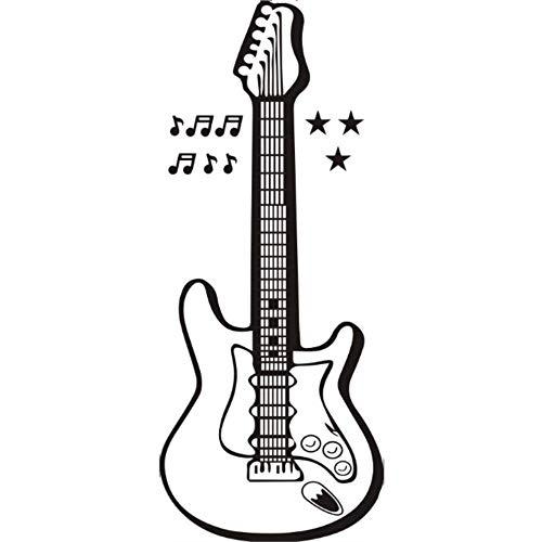 Stijlvolle Muziek Gitaar Muziek Element Woonkamer Klas Concert Hal bar KTV Achtergrond Muursticker