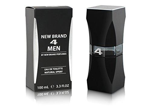 New Brand 4 Men Cologne by New Brand Eau De Toilette Spray 3.4 Oz. by New Brand