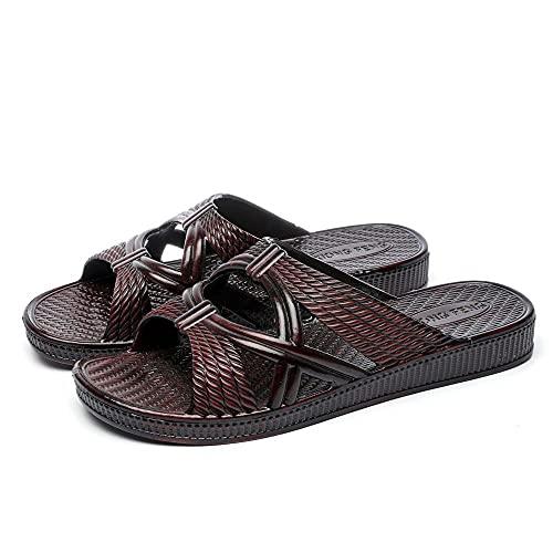 ypyrhh Zapatos Unisex Adulto,Zapatillas de Aceite de casa de Verano, baño Suave de baño de Zapatos de Barrido Antideslizante-Negro_39,Zapatillas Flip Flops Sandal