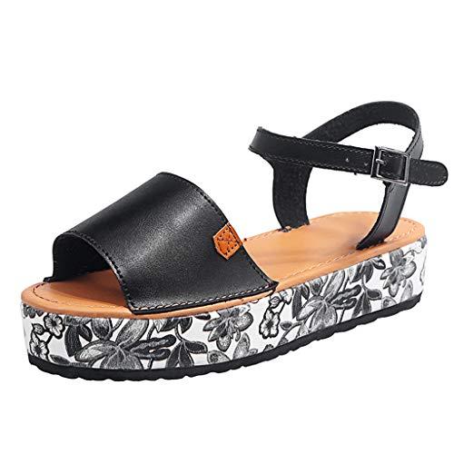 PAOLIAN Sandalias Mujer Plataforma Verano 2020 Zapatos Mujer Tacon Baja Elegantes Alpargatas...