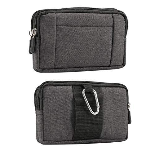 Borsa da Uomo Clip da Cintura Sacchetto per Cellulari, Custodia da Cintura per Smartphone Nero, 6.5