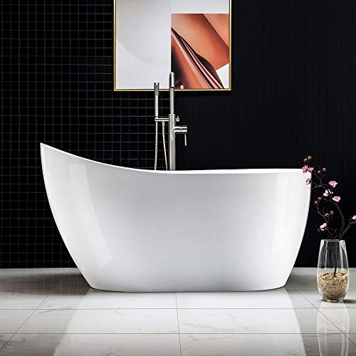 Lowest Prices! Woodbridge Alcove Tub with Apron Acrylic Bathtub Hand Drain & Overflow, Drain Hole on...