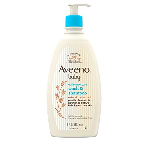 Product Image of the Aveeno Baby Daily Moisture Gentle Bath Wash & Shampoo with Natural Oat Extract,...
