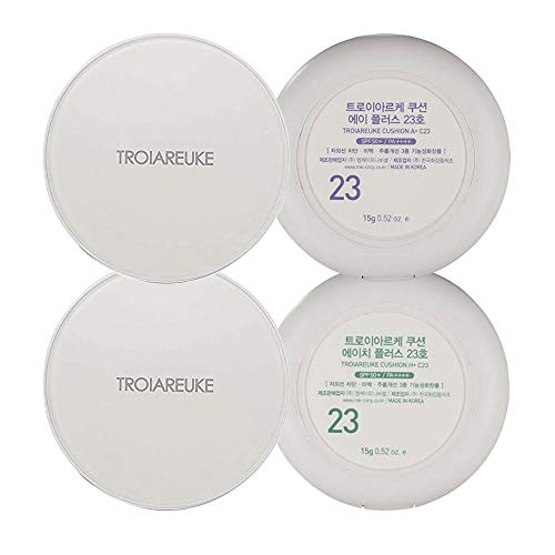 TROIAREUKE A+ and H+ Cushion Set 23, Korean Foundation Makeup for...