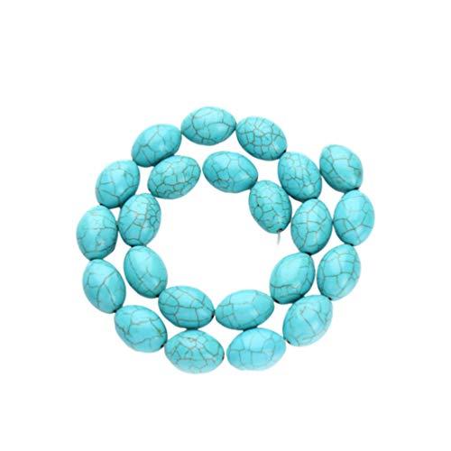 HEALLILY joyas perlas turquesa perlas de piedra cadena Crepa perlas joyas perlas accesorios DIY para pulsera collar (azul)