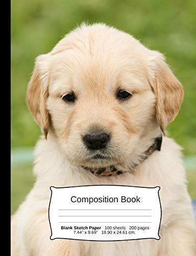 Golden Retriever Composition Notebook: A Sketchbook for Drawing and Doodling (Dog Notebooks)