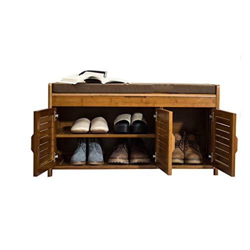 Fuerte Zapatero Simple Gabinete de Almacenamiento pequeño Zapato pequeño de Madera Maciza Banco de Zapatos Moderno a Prueba de Polvo Almacenamiento en casa (Size : 90cm)
