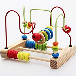 Baby Toy Counting Bead Educational Toys Abacus Maze Roller Coaster Wooden Baby Toy