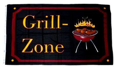 Flagge / Fahne Grill Zone 90 x 150 cm