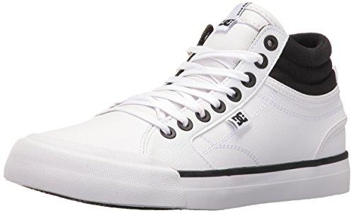 DC Women's Evan Hi Shoes Skateboarding, Black/White, 9 M US