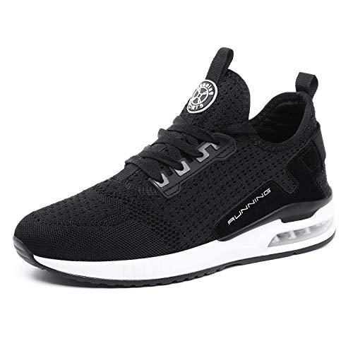 tqgold® Sportschuhe Herren Damen Laufschuhe Sneakers Turnschuhe Gym Fitness Leicht Schuhe(Schwarz,Groß 41)