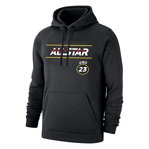 Sudaderas con Capucha de lebron james #23,2021 New All-Star lakers Pullover Uniforme de Baloncesto Fans Camisetas de Entrenamiento, para Hombre y Mujer,Moda Casual,sin Arrugas,Black-XXXL