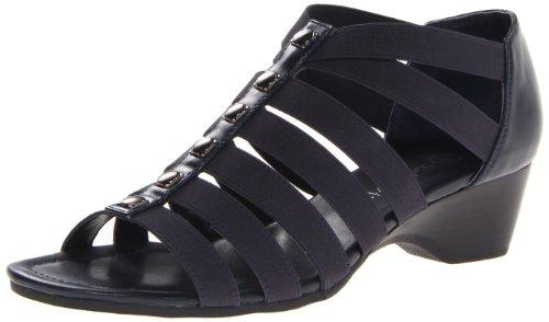 Bella Vita Women's Paula II Wedge Sandal,Navy,6 W US