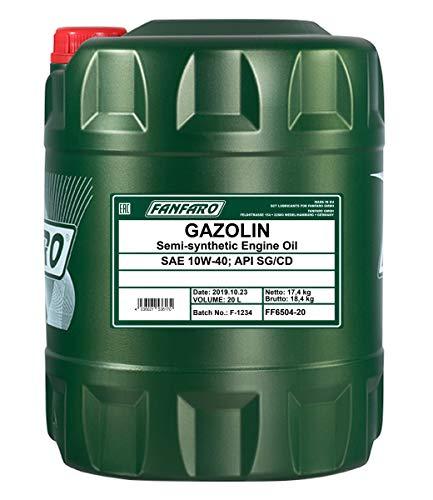 1 x 20L FANFARO GAZOLIN 10W-40 API SG/CD / Universal Motoröl LPG NPG
