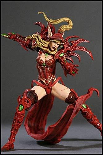 Mundo de los ladrones Warcraft Elfos de sangre Mujer Elfos de Sangre Decoración de escritorio del juguete estatua modelo, la altura de PVC Colección decoración del arte del regalo sobre el 14.5cm
