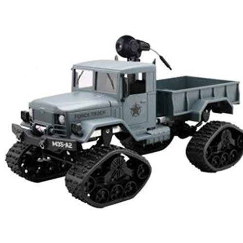 BAOZUPO Coche de Control Remoto RC Camión Militar con cámara HD Batería Recargable, 2.4Ghz Escala 1/16 Todo Terreno Todo Terreno Vehículo de Control Remoto para niños, Adultos, niños y niñas