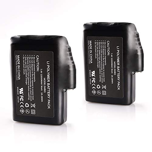 SAVIOR HEAT 7.4V 2200MAH Rechargable Li-ion Batteries, for Heated Gloves Socks Hats Balaclava(Battery only)