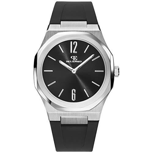 Paul Edward ONE PE001S1 - Reloj de pulsera para hombre (caucho), color negro