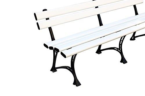 HEXIM Sitzbank Kunststoff PVC - 200x75x45 cm robust - Gartenbank Harmony
