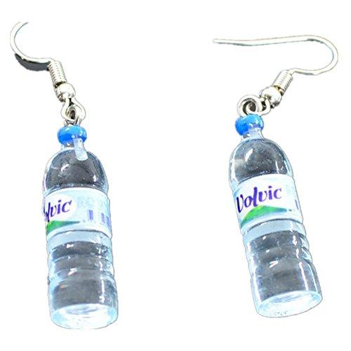 Ownsig Women Bohemian Water Bottle Pendant Earrings Drop Dangle Earrings Creative Unique Blue pair